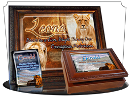 name meaning music boxes with lion pictures.
