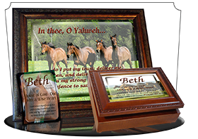 SG-PL-AN31, Custom Scripture Plaque,  Framed, Bible Verse  horses, Psalm 31, freedom