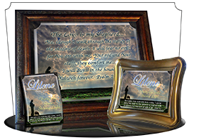 SG-PL-AN34, Custom Scripture Plaque,  Framed, Bible Verse memorial remembrance  shepherd sheep lamb, Psalm 32:4,6