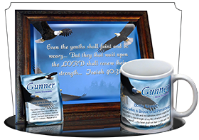 SG-MU-AN38, Coffee Mug with Custom Bible Verse  bald eagle bird, Isaiah 40:31, wings as eagles.