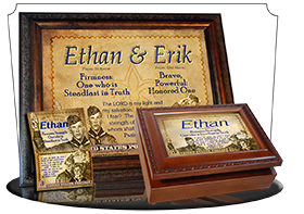 8x10-CA03, personalized 10x12 name meaning print, framed with  name meaning & Bible verse,  ethan boy scouts stamp collecting  Long known to be a symbol of honor, integrity and goodness, these Boy Scouts assure you that they will uphold the honorable trad