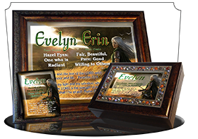 MU-CR06, Coffee Mug with Name Meaning and  Bible Verse, personalized, evelyn elf fantasy elven