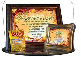 SG-MB-LE10, Custom Bible Verse on a Music Box, Bible Verse, personalized, tree leaves leaf autumn fall, Proverbs 3:5-6