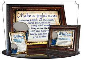 SG-8x10-MU02, Large 10x12 Plaque with Custom Bible Verse, personalized, music notes  drums, Psalm 98:4