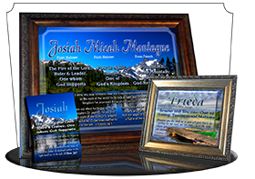 8x10-SC07, personalized 10x12 name meaning print, framed with  name meaning & Bible verse, , personalized, josiah mountains lake scenery