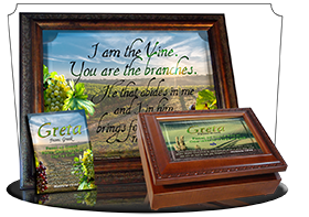 8x10-SC14, personalized 10x12 name meaning print, framed with  name meaning & Bible verse, , personalized, Greta rolling hills peace Italy