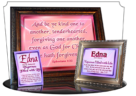 MU-SM06, Music Box with personalized name meaning & Bible verse, , personalized, baby name purple pink edna simple basic