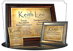 PL-SM09, Name Meaning Print,  Framed, Bible Verse, personalized, parchment old simple basic keith