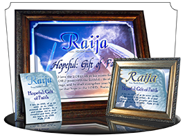 PL-SY33, memorial Name Meaning Print,  Framed, Bible Verse, personalized, raija, wings angel, angelic, heaven messenger