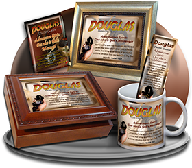 MU-SY40, Coffee Mug with Name Meaning and  Bible Verse, personalized, douglas adventure compass map telescope
