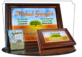 MU-TR10, Music Box with personalized name meaning & Bible verse, , personalized, adam tree green