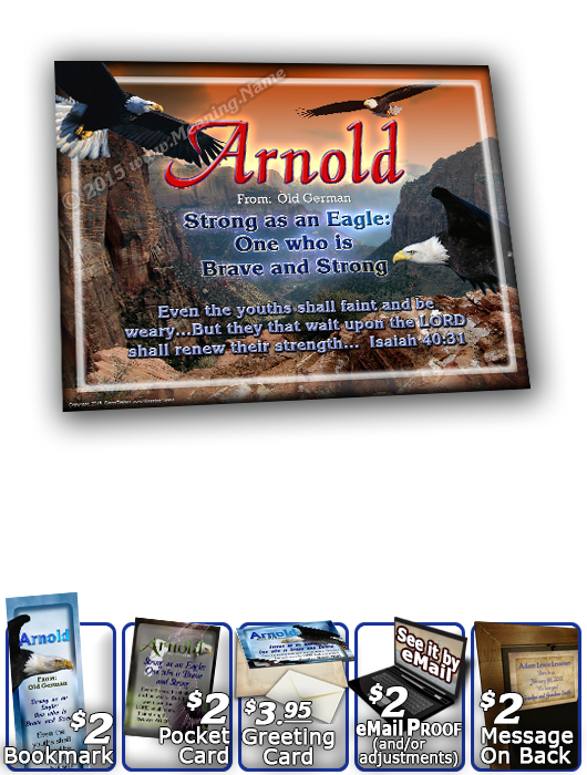 8x10-AN20, personalized 10x12 name meaning print, framed with  name meaning & Bible verse,  Arnold bald eagle fly  Courage excludes from this noble eagle as he soars to lofty heights, to survey his mountaintop view, from up above, as your name and it's me
