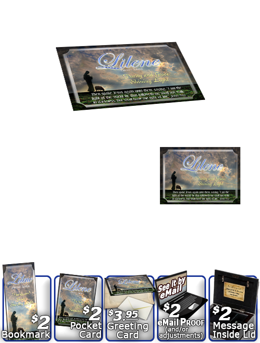 MU-AN34, Music Box with personalized name meaning & Bible verse,  memorial remembrance lileen shepherd sheep lamb