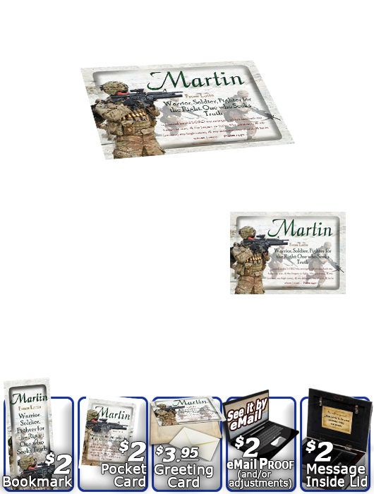 MU-PP22, Music Box with personalized name meaning & Bible verse, , personalized, bravery soldier army navy war martin