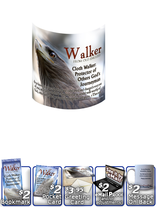MU-AN47, Coffee Mug with Name Meaning and  Bible Verse eagle hawk bird walker