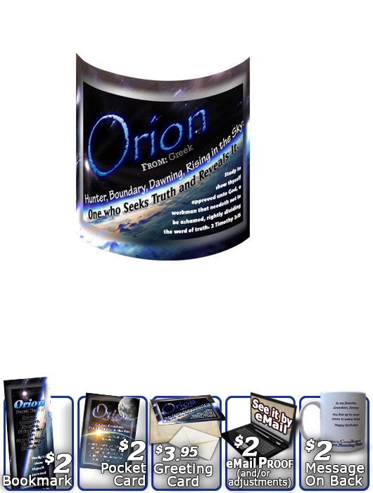 MU-CR02, Coffee Mug with Name Meaning and  Bible Verse, personalized, space planet orion