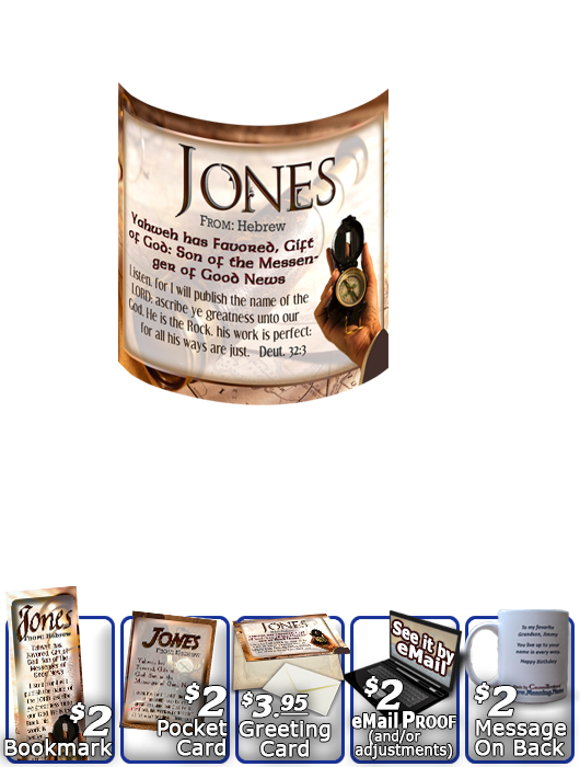 MU-SY01, Coffee Mug with Name Meaning and  Bible Verse, personalized, jones compass telescope adventure