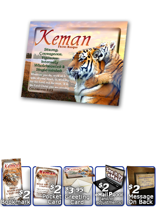 PL-AN40, Name Meaning Print,  Framed, Bible Verse tiger keman tigress powerful