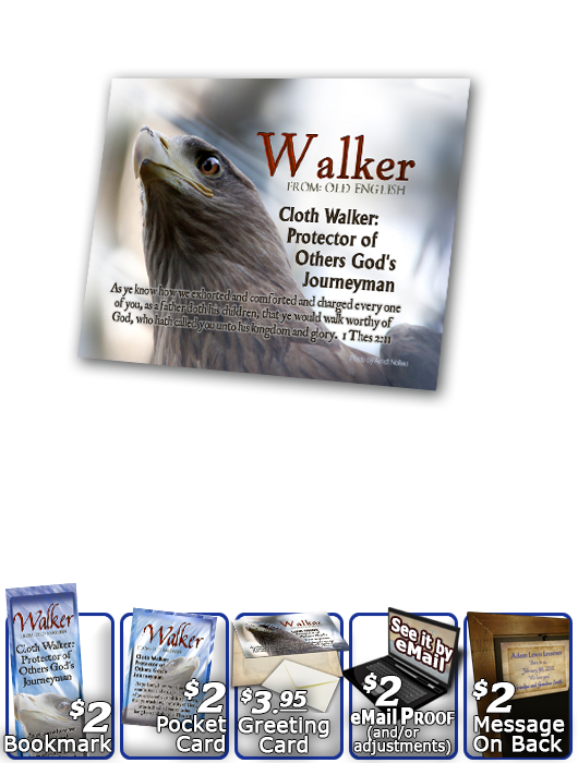 PL-AN47, Name Meaning Print,  Framed, Bible Verse eagle hawk bird walker