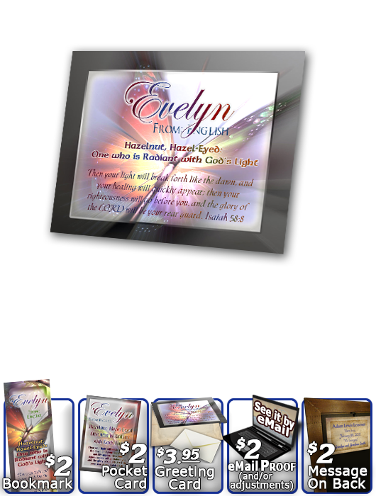 PL-BF08, Name Meaning Print,  Framed, Bible Verse butterfly  evelyn