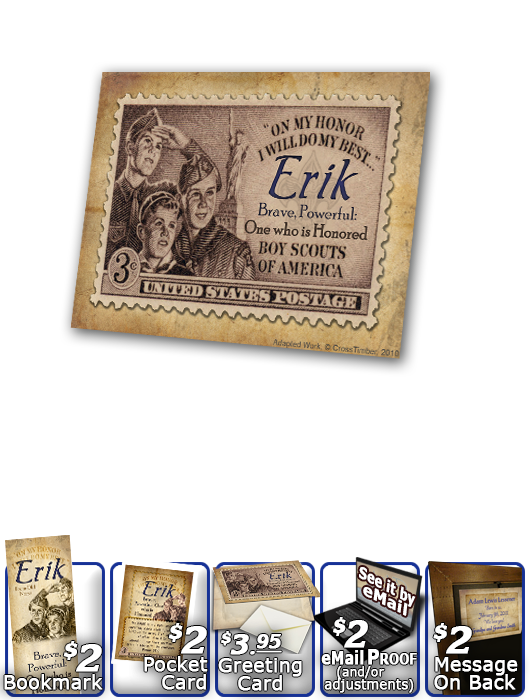 PL-CA01, Name Meaning Print,  Framed, Bible Verse erik boy scouts stamp collecting