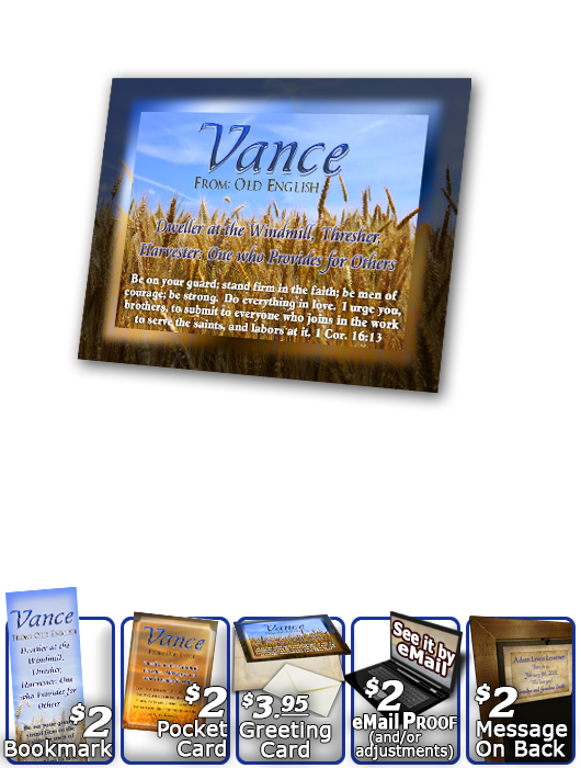 PL-GR01, Name Meaning Print,  Framed, Bible Verse, personalized, vance grain field harvest