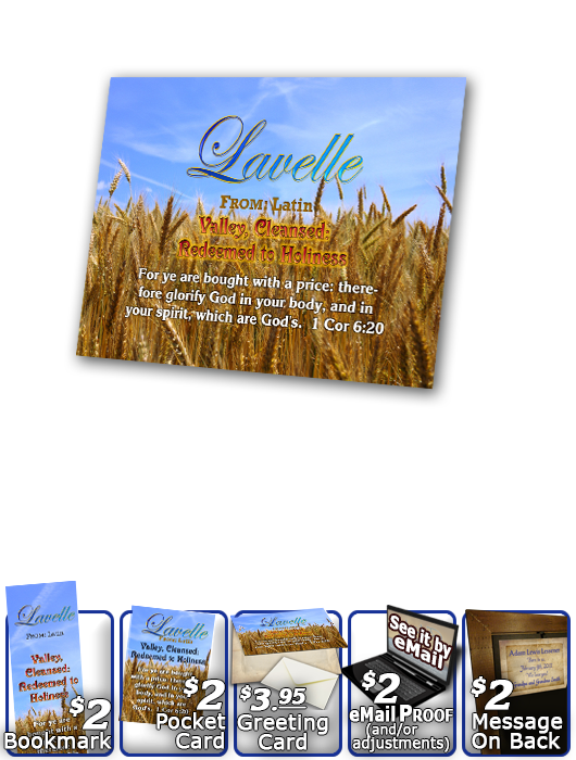 PL-GR05, Name Meaning Print,  Framed, Bible Verse, personalized, lavelle grain field harvest