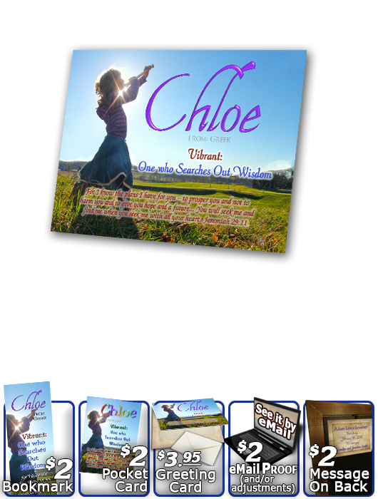 PL-PP27, Name Meaning Print,  Framed, Bible Verse, personalized, child worship praise chloe dance music