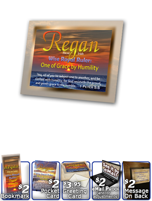 PL-SS06, Name Meaning Print,  Framed, Bible Verse, personalized, sunset sky sun regan