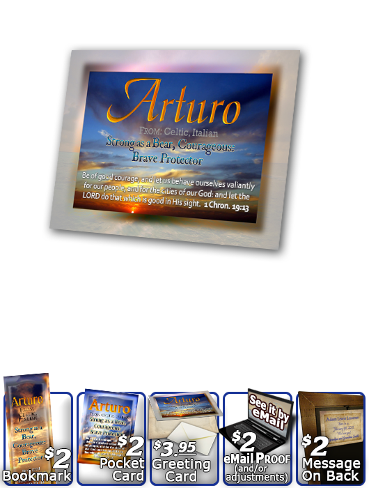 PL-SS07, Name Meaning Print,  Framed, Bible Verse, personalized, arturo sunset sky