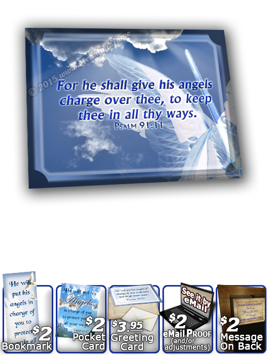 SG-8x10-AN15, Large 10x12 Plaque with Custom Bible Verse  dove peace angels, Psalm 91:11