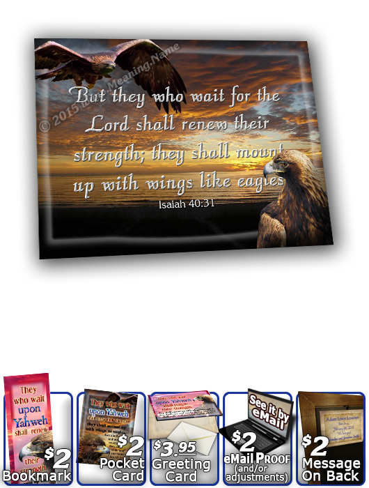 SG-8x10-AN24, Large 10x12 Plaque with Custom Bible Verse bird golden eagle hawk, Isaiah 40:31