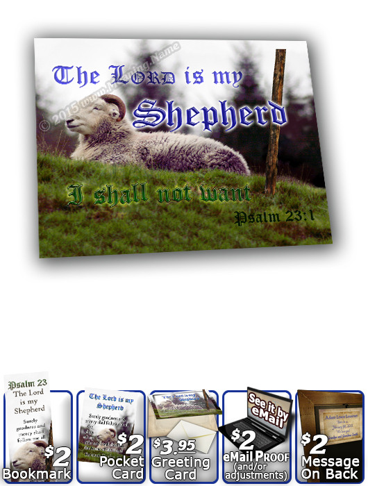 SG-8x10-AN62, Large 10x12 Plaque with Custom Bible Verse sheep ram shepherd flock lamb staff, Psalm 23, Shepherd.