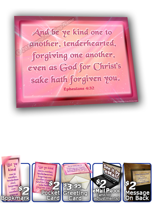 SG-8x10-SM07, Large 10x12 Plaque with Custom Bible Verse, personalized, baby name purple pink  simple basic, Ephesians 4:32
