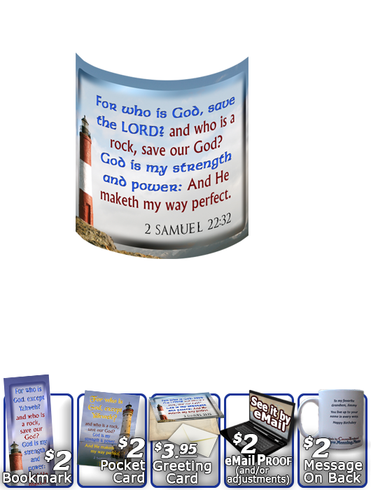 SG-MU-LH35, Coffee Mug with Custom Bible Verse, personalized, lighthouse light, John 8:12, Isaiah 9:2,6