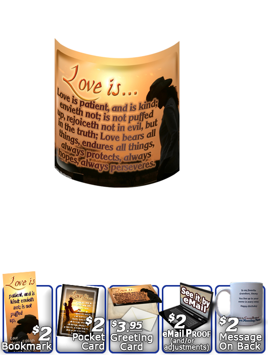 SG-MU-SY34, Coffee Mug with Custom Bible Verse, personalized, girl pretty sunset love sweetheart couples, 1 Corinthians 13