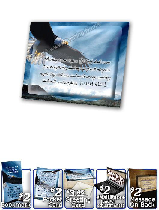 SG-PL-AN38, Custom Scripture Plaque,  Framed, Bible Verse  bald eagle bird, Isaiah 40:31, wings as eagles.