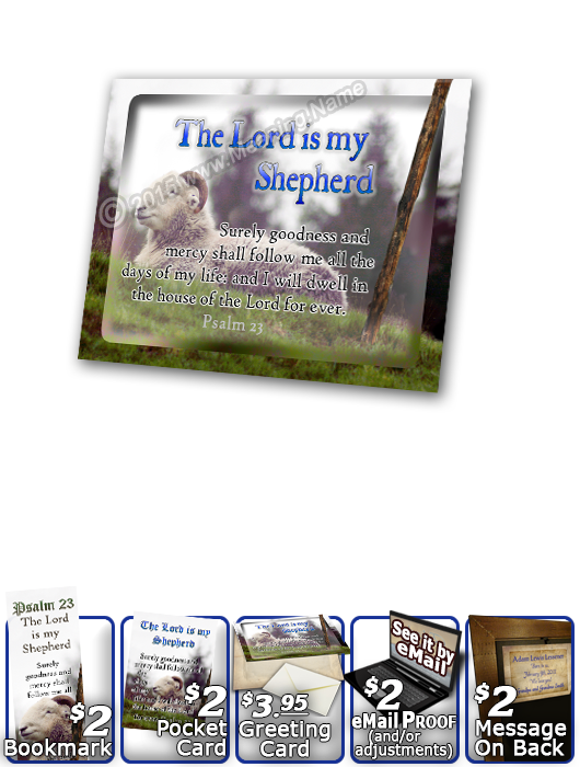 SG-PL-AN62, Custom Scripture Plaque,  Framed, Bible Verse sheep ram shepherd flock lamb staff, Psalm 23, Shepherd.