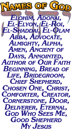 Names of God research and stories